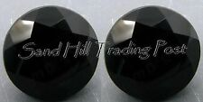 Natural 3mm Round .11ct Faceted Black Onyx 2 pcs. AAA