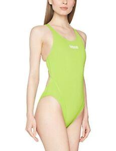Arena Women's Solid Swim Tech High Classic Practice Durable Training Swimwear