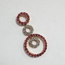 14k Yellow Gold Diamond & Ruby Pendant Jewelry AB-DRP481