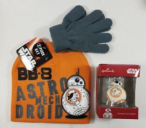 Disney Star Wars BB8 Beanie & Glove Set Plus Christmas Ornament