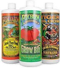 Foxfarm Soil Trio - Big Bloom / Grow Big / Tiger Bloom 32oz Qt's Bay Hydro !