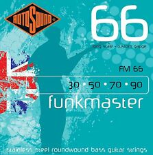 ROTOSOUND FM66 FUNKMASTER 4 STRING BASS GUITAR STRINGS 30-90 STAINLESS STEEL