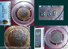 "1859 CANADA One Cent  PCGS MS64 ""REPUNCHED 9""  - Haxby E37"