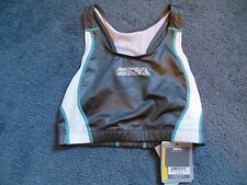 NWT! Profile Design Womans Small Triathlon Cycling Gray & White Bra Tank Top