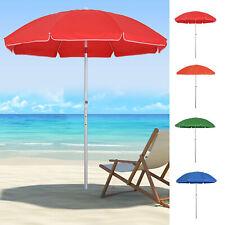 Arc. 1.9m Beach Umbrella w/ Adjustable Angle Pointed Design Carry Bag