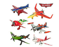 "Disney Planes 6pc Set Large 3"" X 3"" Birthday Cake Topper PVC Figurines Toy"