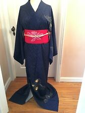 Brand New Silk Kimono w/ Hand Embroider Japanese Dress Houmongi Home Decor