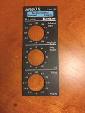 Baxter Sufentanil Infusor Magnetic Label L01 For Baxter Bard Syringe Pump