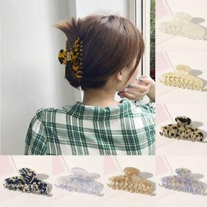 Acrylic Print Hairpins Hair Claws Clamp Hair Clip Barrette Hairpin Headdress US