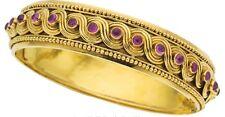 Zolotas 18K Gold & Pink Sapphire Bangle Bracelet