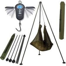 SABER CARP FISHING 50KG DIGITAL WEIGH SCALES + NGT WEIGHING TRIPOD SYSTEM 396