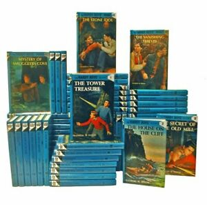 Lot of 10 RANDOM Hardy Boys BOOKS hardcover Chapter Books old and new mixed