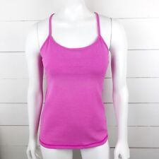 Lululemon Women's 2 Tank Tank Top Shirt Activewear Racerback Pink Built-in-Bra