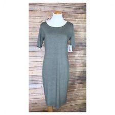 LULAROE Julia ringer gray dress Medium Med M NEW NWT