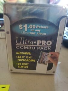 Ultra Pro Top Loaders combo 25 3x4 top loaders 25 soft sleeves
