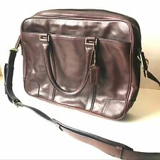 COACH Bleeker briefcase Bag leather large brown 70777 zip large