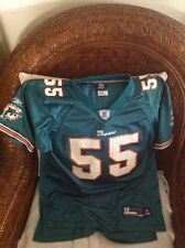 5cea393e6 ... Miami dolphin joey porter 55 Green Jersey Reebok Size L 14-16 YOUTH ...