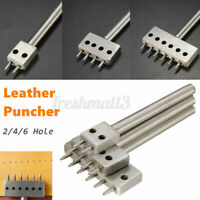 2/4/6 Holes Row Leather Craft Round Punch Stitching Cutter Round Hole Pit
