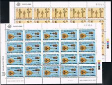 Europa CEPT 1985 Cyprus 641-642 vellen Cat waarde € 30