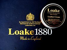 "LOAKE BROGUES BOOT SHOE ""TAN LEATHER CREAM "" REVIVES PROTECTS SMOOTH LEATHER"