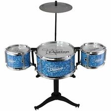 Kids Desk Top Drum Kit Miniature Musical Instrument Fun Novelty Toy Gift Red Blu