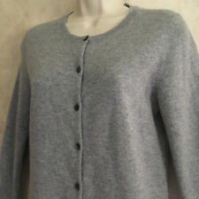 Ann Taylor Size Small Cashmere Sweater Gray Button Up Womens