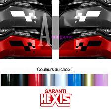 2 X RENAULT MEGANE CLIO RS SPORT DAMIERS PARE-CHOC 29cmX13cm STICKER RA068