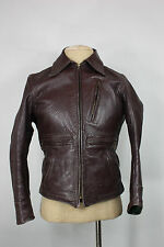 Horsehide jacket S 38 vintage leather 50's brown motorcycle