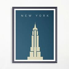 New York Empire State Building Travel Poster Minimalistic Advertising