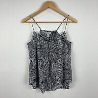 H&M Womens Cami Top Size US 4 AU 8 Black White Good Condition