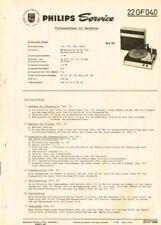 Philips Plattenspieler 22GF040 Schaltplan Manual 1966 Original GF040 wk50