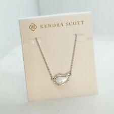 New Kendra Scott Tansy Pendant Necklace In Ivory Pearl / Silver