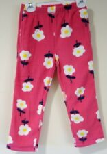 New Hanna Andersson Pink Floral Fleece Pants Size 110 / 5