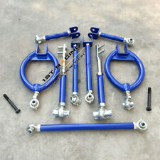 FOR 89-94 Nissan 240sx s13 Rear Front Suspension kit Traction Tie Toe ArmS Blue