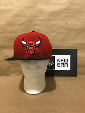 """Chicago Bulls New Era 9FIFTY """"Flow Team Snap"""" Snapback Red/Black New With Tags"""