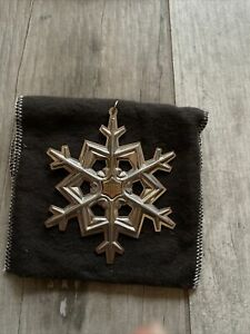 Gorham Sterling Silver 1989 Annual Snowflake Ornament With Box