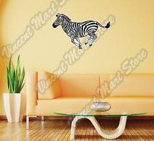 "Plains Zebra Burchell Wild Animal Wall Sticker Room Interior Decor 25""X20"""