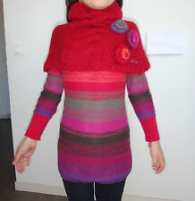 Superbe robe pull + poncho CATIMINI laine mohair angora taille 8 ans  6 ans tbe