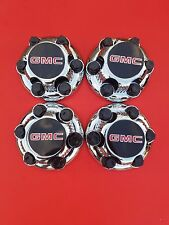 "NEW 4 PCS GMC Sierra Yukon Savana 6 Lugs1500 CHROME CENTER HUB CAP16"" 17"" Wheels"