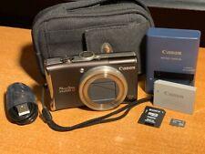 Canon PowerShot PowerShot SX200 IS 12.1MP Digital Camera - Brown + Case + Card