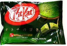 Nestle Kit Kat Green Tea Matcha Maccha Favor Crunchy Chocolate - 12 packs JAPAN