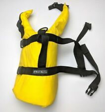 West Marine Dog Life Preserver Jacket Size Med 8-20 Lbs Yellow Flotation Vest