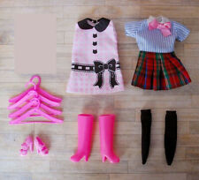 Pack set 2 dress outfit Loose school uniform 1/6 doll Blythe Azone Licca Dal