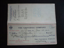 Cheque from The Security Savings & Trust Co. Erie, Pennsylvania - 1913