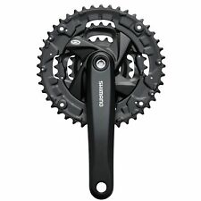 Shimano Fc-m371 Square Taper Bike / Cycle Chainset 44/32/22t 170mm Black