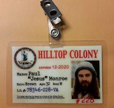 "The Walking Dead ID Badge - Paul ""Jesus"" Monroe cosplay costume prop"