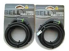 Bell Combination Cable Bike Lock- 8mm x 5 ft - Lot Of 2