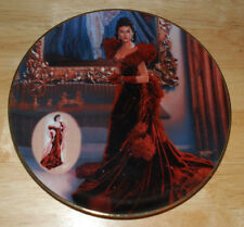 1993 Collectors Plate The Red Dress Gone With The Wind Bradford Exchange Limited