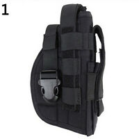 AM_ TACTICAL RIGHT HAND 1000D NYLON MOLLE PISTOL HOLSTER POUCH HUNTING BAG NICE