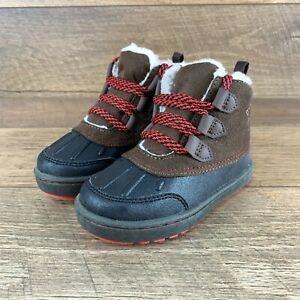 NIB OshKosh B'Gosh Harrison Brown Winter Duck Boot Little Boys Size 7 Toddler US